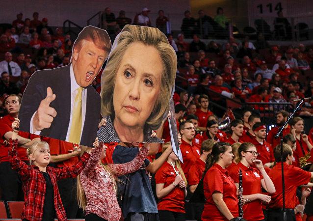 Imágenes de Hillary Clinton y Donald Trump