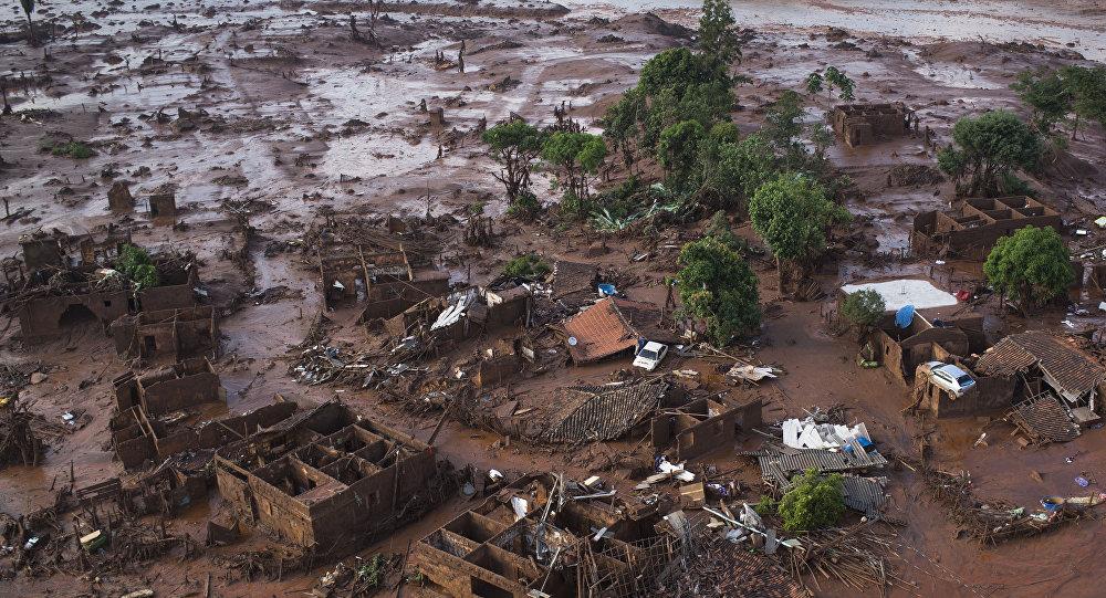 Consecuencias de la represa minera en Samarco, Brasil (archivo)