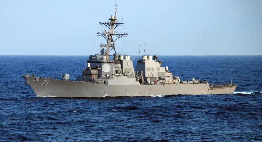 El destructor estadounidense USS Ross (DDG 71)
