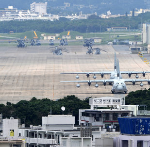 Base de la Fuerza Aérea estadounidense Futenma en Okinawa, Japón