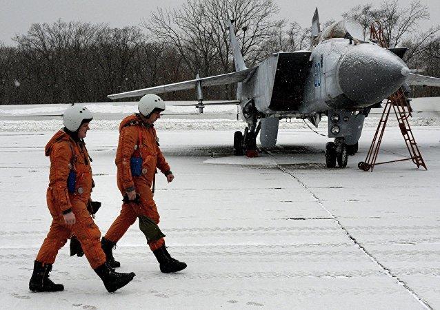 Ejercicios aéreos tácticos en el este de Rusia