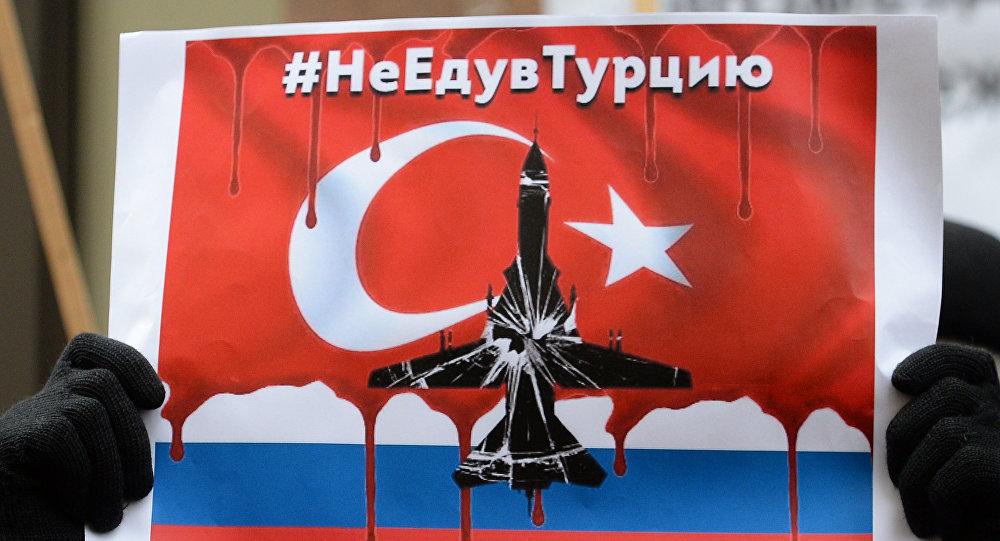 Manifestación de protesta frente a la embajada de Turquía en Moscú