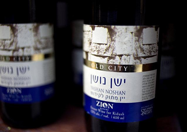 Vino producido en la territoria palestina de Cisjordania