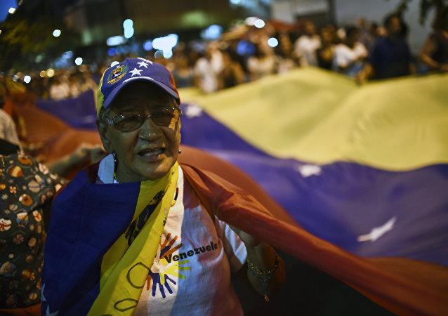 Partidario de la oposición venezolana