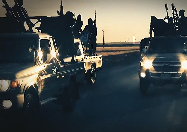 Combatientes del grupo terrorista Daesh