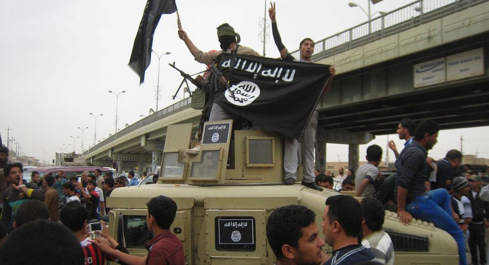 Bandera de Daesh (archivo)