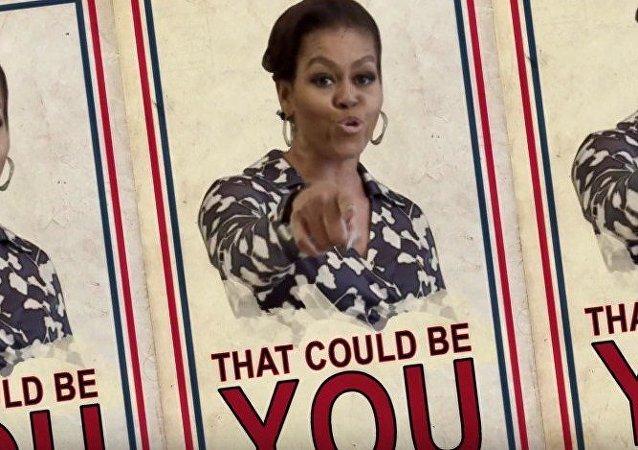 Michelle Obama, esa estrella del rap