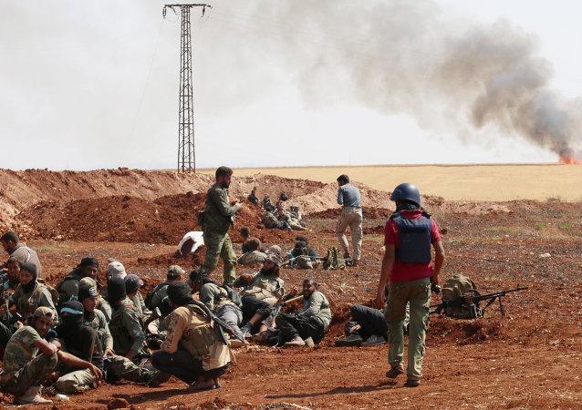 Milicianos del grupo Jaysh al Islam (archivo)