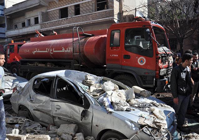 Atentado en Homs (archivo)