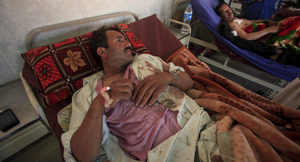 Víctimas de la explosión que tuvo lugar en la ciudad de Parachinar, Pakistán