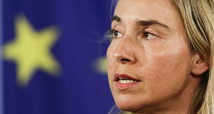 Federica Mogherini, alta representante de la UE para Asuntos Exteriores (archivo)