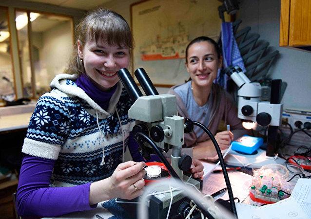 Científicas de la DVFU estudian nuevos organismos encontrados en el Mar de Ojotsk