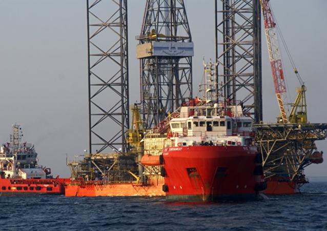 Plataforma de gas de Chernomorneftegas en el mar Negro