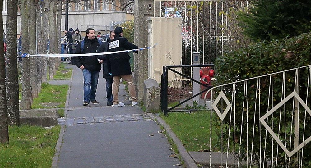 El lugar del incidente en Aubervilliers, en los alrededores de París