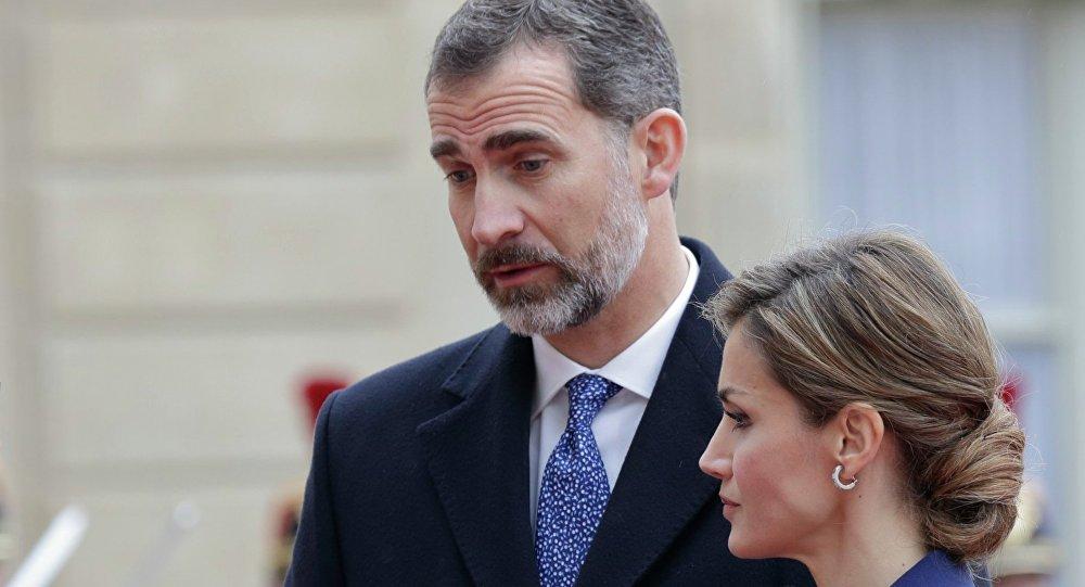 Felipe VI, el Rey de España con su esposa Letizia