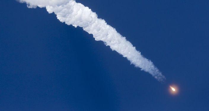 El lanzamiento de la nave espacial Soyuz TMA-19M desde el cosmódromo Baikonur (Archivo)