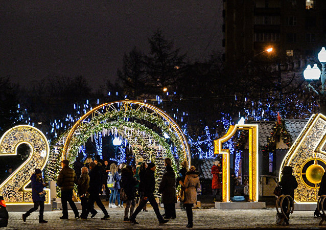 Moscú en la víspera de Nochevieja