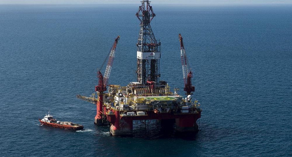 Plataforma petrolífera en el Golfo de México (archivo)