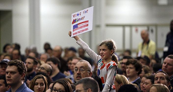 Partidarios de Hillary Clinton en St. Louis, EEUU