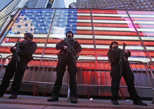 Policías estadounidenses en Nueva York