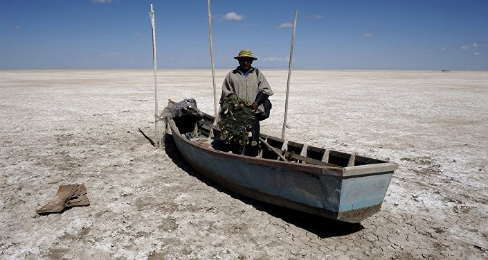 Gobernación boliviana declara zona de desastre al desecado lago Poopó