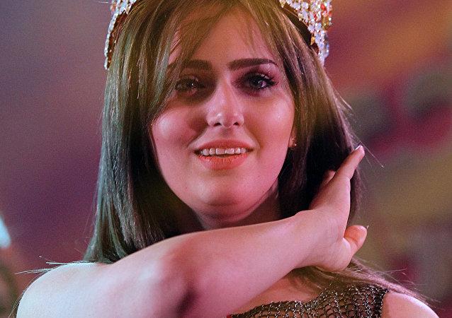 Shaima Qassem, ganadora de concurso de belleza Miss Irak de 2015