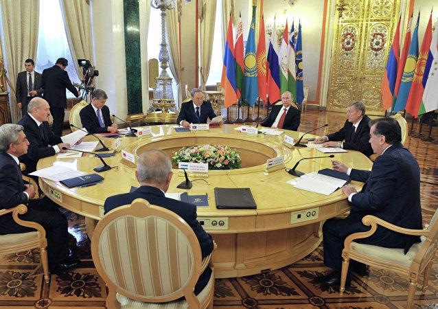 La reunión de los líderes de países miembros de OTSC en Kremlín (Archivo)