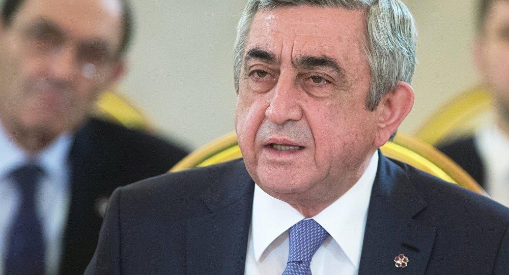 Serzh Sargsián, presidente de Armenia