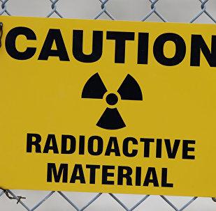 Señal de advertencia de residuos nucleares
