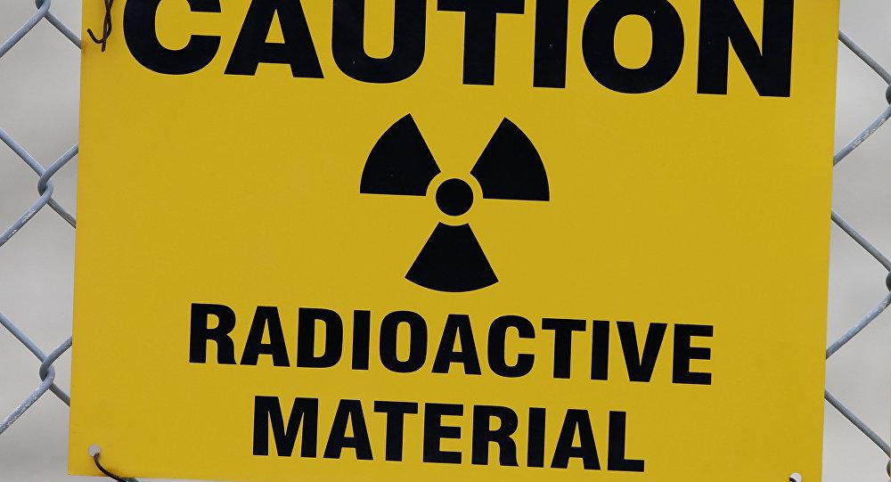 Señal de advertencia de materiales nucleares