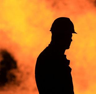 Trabajador de un campo petrolero