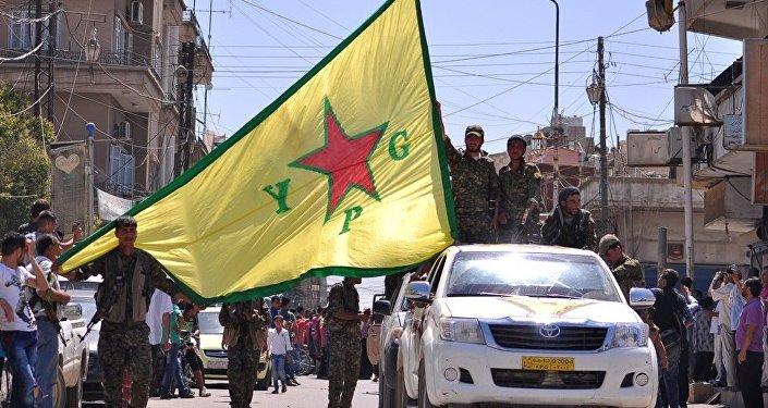 Bandera del YPG (archivo)