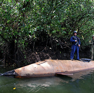 Un submarino de narcotraficantes, encontrado en Colombia