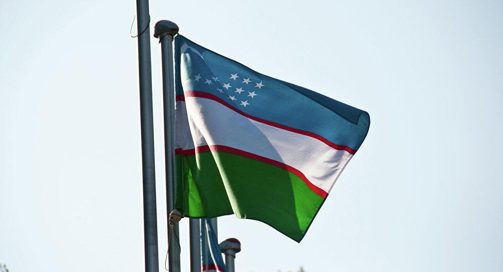 La bandera de Uzbekistán