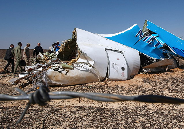 Los restos del avión ruso siniestrado en Egipto