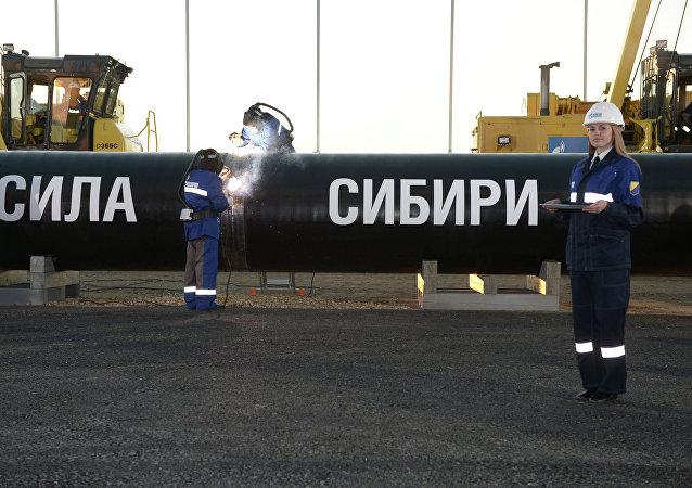 Construcción del gasoducto Fuerza de Siberia