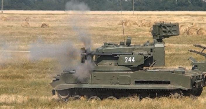 Prácticas militares en Krasnodar: tiro con Tunguska e Iglá