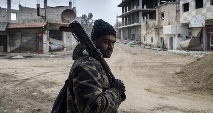 Soldado sirio en Damasco (archivo)