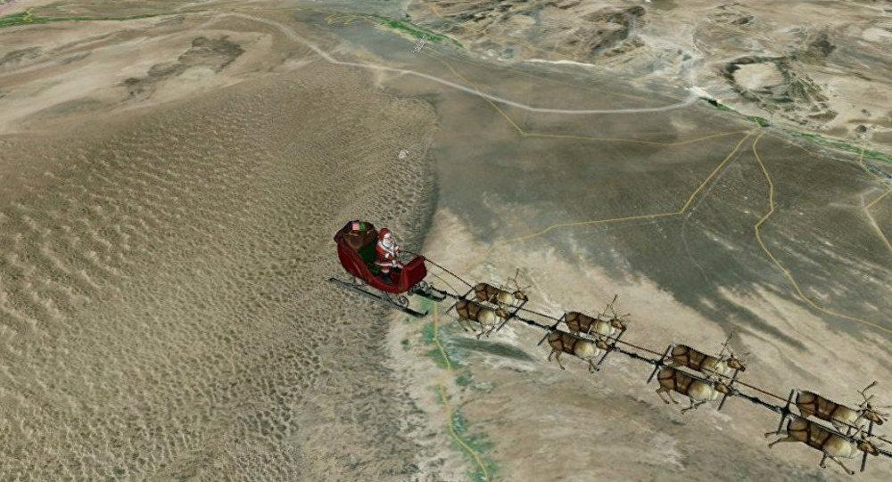 Imagen de Santa Claus distribuido por NORAD
