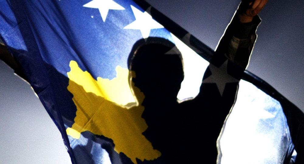 La bandera de Kosovo