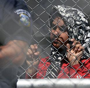 Una refugiada