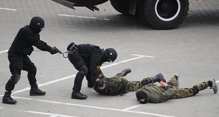 Fuerzas de Seguridad de Ucrania durante un simulacro