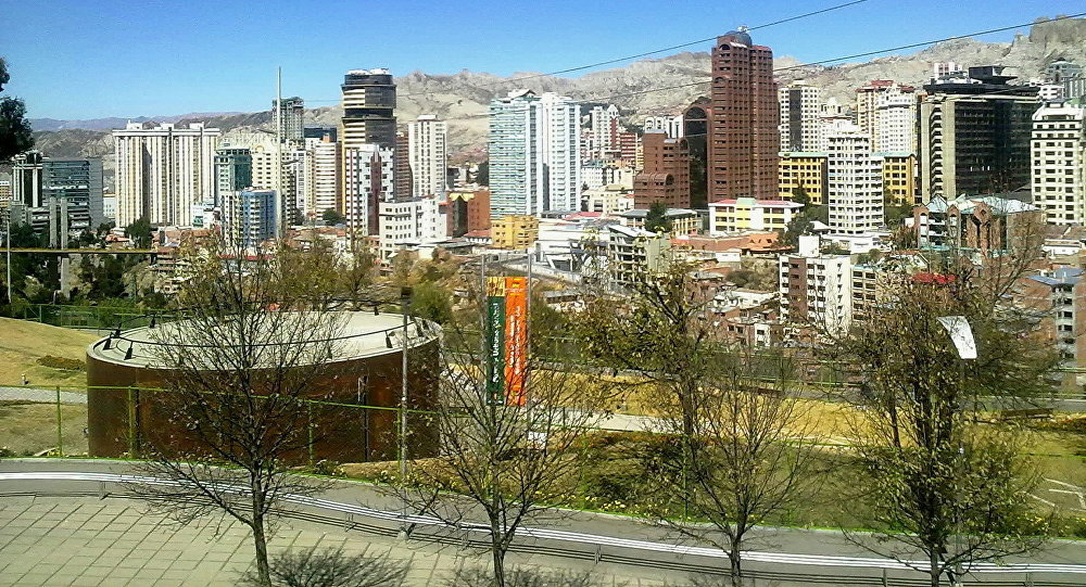 La Paz, vista desde el Parque Urbano Central