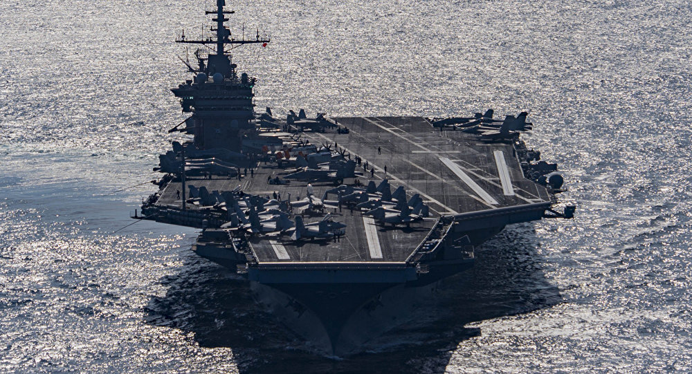 Portaaviones Harry Truman en el Golfo de Omán