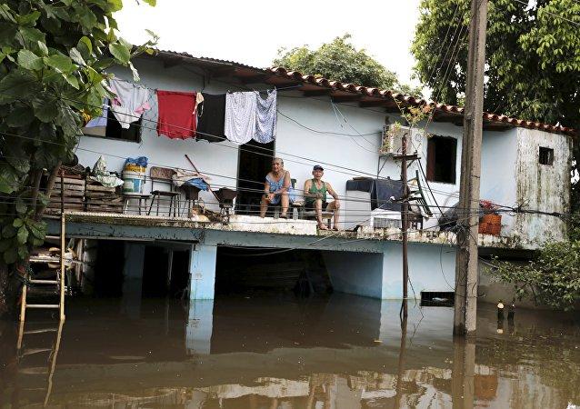 Inundación en Paraguay (archivo)