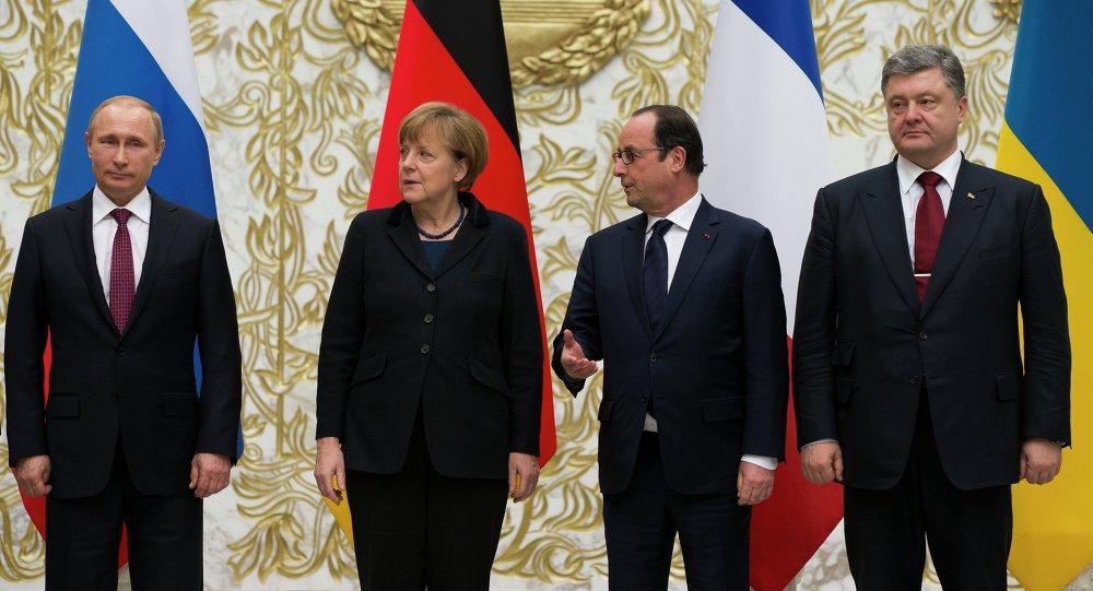 Reunion del cuarteto de Normandía (Alemania, Francia, Rusia y Ucrania) en Minsk