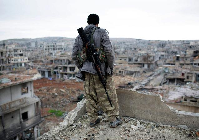 Combatiente en Oriente Próximo