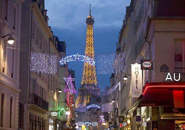 Iluminación de Navidad en París