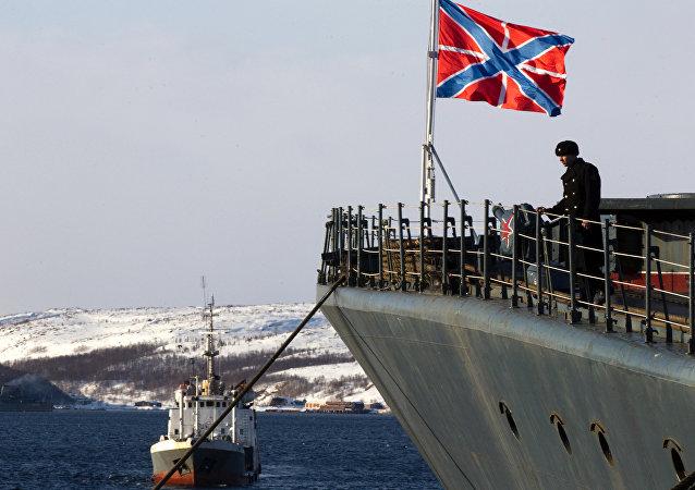 El buque antisubmarino Severomorsk de la Flota del Norte de Rusia