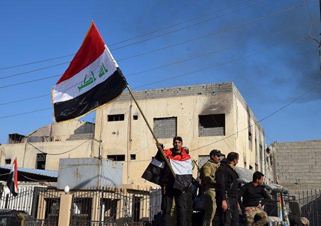 Miembros de las Fuerzas antiterroristas iraquíes en Ramadi